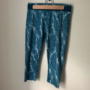 Puma | blue and white active wear leggings